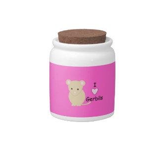 I Heart Gerbils Candy Jar