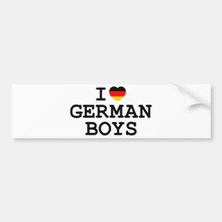 I Heart German Boys Car Bumper Sticker