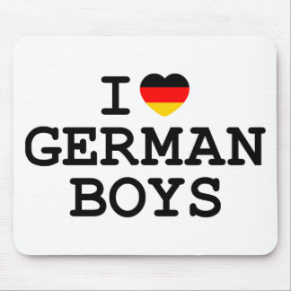 I Heart German Boys Mouse Pad