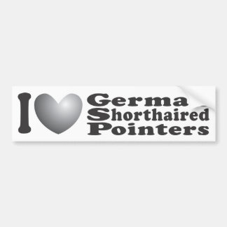 I Heart German Shorthaired Pointers - Bumper Stick Car Bumper Sticker