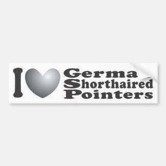 I Heart German Shorthaired Pointers - Bumper Stick Car Bumper Sticker