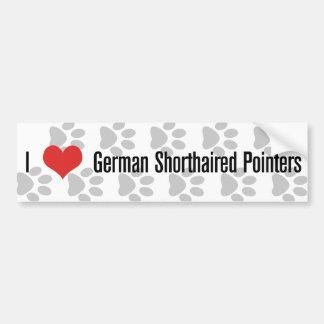 I (heart) German Shorthaired Pointers Car Bumper Sticker