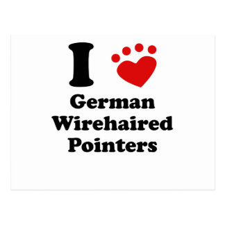 I Heart German Wirehaired Pointers Post Card