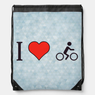 I Heart Getting Some Fresh Air And Exercise Drawstring Backpack