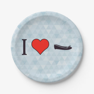 I Heart Getting Special Shoes 7 Inch Paper Plate