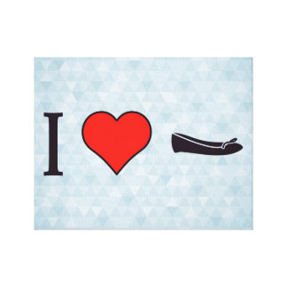 I Heart Getting Special Shoes Canvas Print