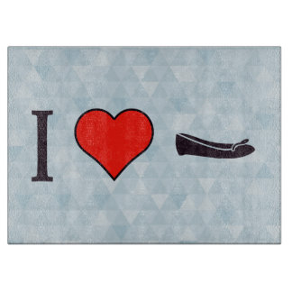 I Heart Getting Special Shoes Cutting Boards