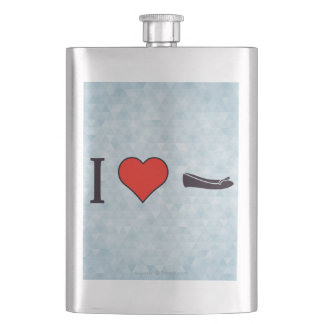 I Heart Getting Special Shoes Hip Flasks