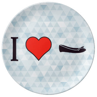I Heart Getting Special Shoes Porcelain Plates