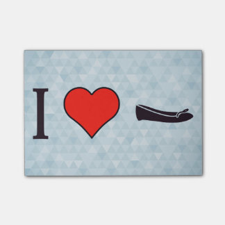 I Heart Getting Special Shoes Post-it® Notes