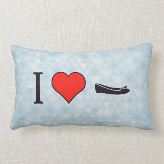 I Heart Getting Special Shoes Throw Pillow