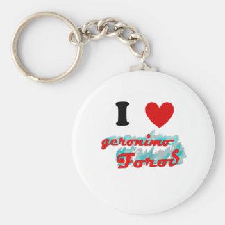 I heart GFO Basic Round Button Keychain