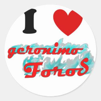 I heart GFO Classic Round Sticker