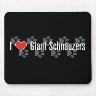 I (heart) Giant Schnauzers Mouse Pad