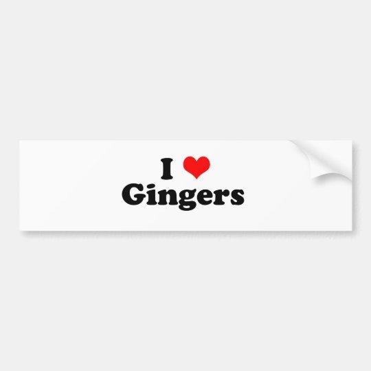 I Heart Gingers Bumper Sticker