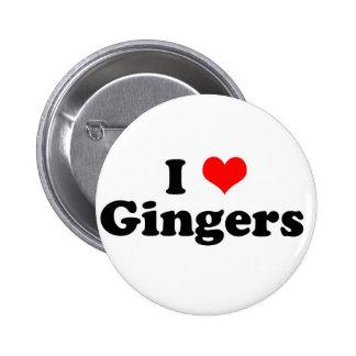 I Heart Gingers Pin