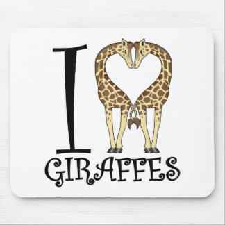 I Heart Giraffes Mouse Pad