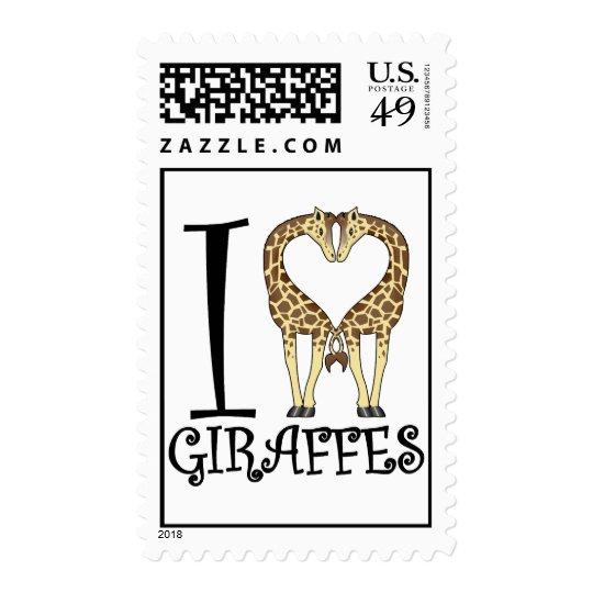 I Heart Giraffes Postage