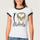 I Heart Giraffes T Shirts