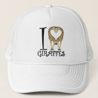 I Heart Giraffes Trucker Hat