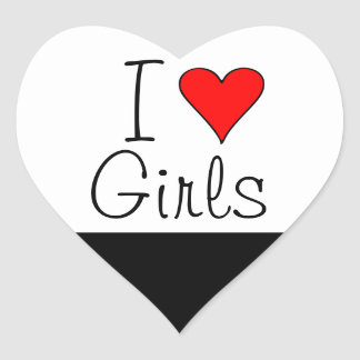 I heart girls heart sticker