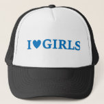 "I &quot;Heart&quot; Girls Trucker Cap<br><div class=""desc"">I Heart Girls Cap similar to the one worn by the Character &quot;Torgeir Lien&quot; in the Norwegian TV series &quot;Lilyhammer&quot; that aired on Netflix.</div>"