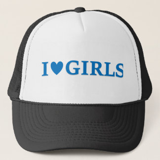 "I ""Heart"" Girls Trucker Cap"