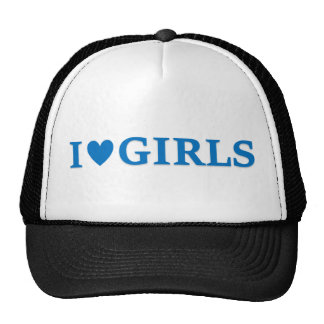 "I ""Heart"" Girls Trucker Cap Trucker Hat"