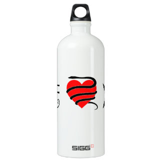 I Heart (Girt with a Serpent) Thelema Aluminum Water Bottle