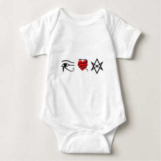 I Heart (Girt with a Serpent) Thelema Baby Bodysuit