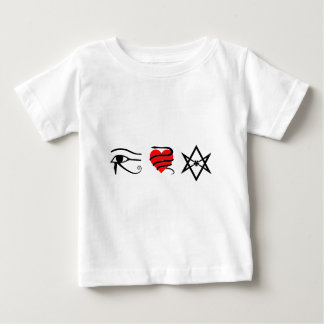 I Heart (Girt with a Serpent) Thelema Baby T-Shirt