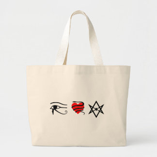 I Heart (Girt with a Serpent) Thelema Large Tote Bag
