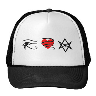 I Heart (Girt with a Serpent) Thelema Trucker Hat