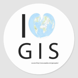 I heart GIS Classic Round Sticker