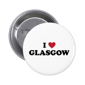 I Heart Glasgow Scotland 2 Inch Round Button
