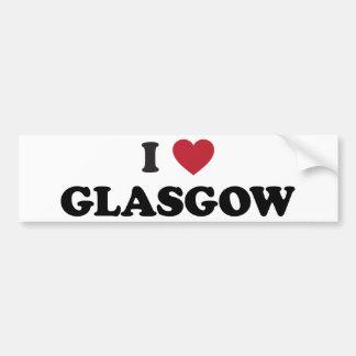 I Heart Glasgow Scotland Car Bumper Sticker