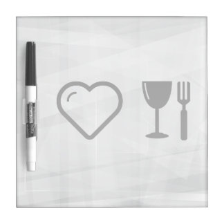 I Heart Glass Dines Dry Erase Board
