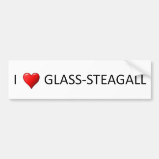 I Heart Glass Steagall Bumper Sticker