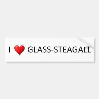 I Heart Glass Steagall Car Bumper Sticker