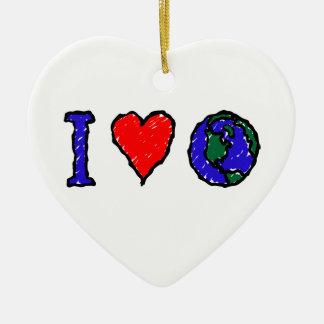 I Heart Globe Ornament