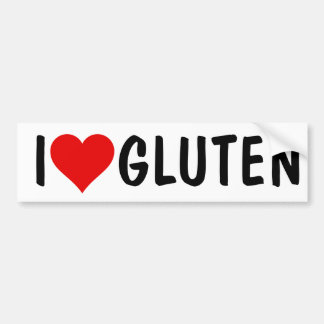 I HEART GLUTEN BUMPER STICKER