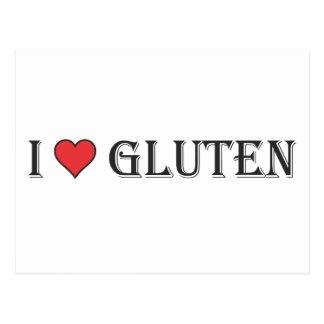 I Heart Gluten - Clear Background Postcard