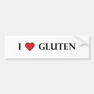 I Heart Gluten - Clear Car Bumper Sticker