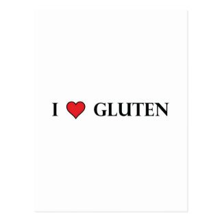 I Heart Gluten - Clear Postcard