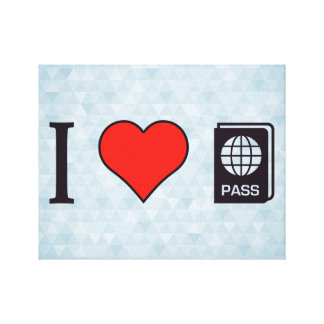 I Heart Going Abroad Canvas Print