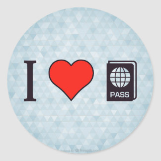 I Heart Going Abroad Classic Round Sticker