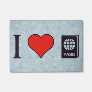 I Heart Going Abroad Post-it Notes