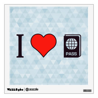 I Heart Going Abroad Wall Decal