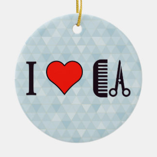 I Heart Going To Beauty Saloon Ceramic Ornament