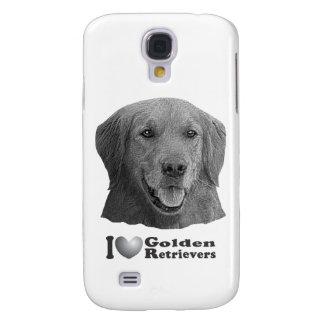 I Heart Golden Retrievers w Stylized Image Galaxy S4 Case
